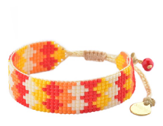 Seventies Bracelet - Red & Orange