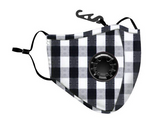 Gemelli Black Gingham Mask