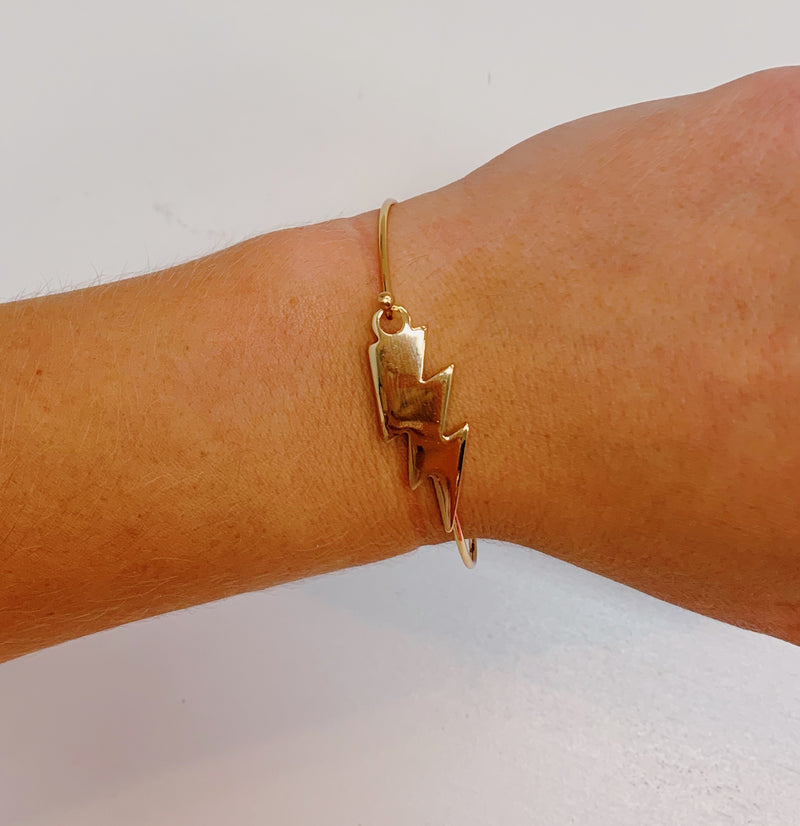AS Lightning Bolt Bracelet - Gold