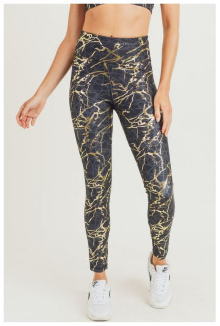 Molly Metallica Marble Highwaist Leggings