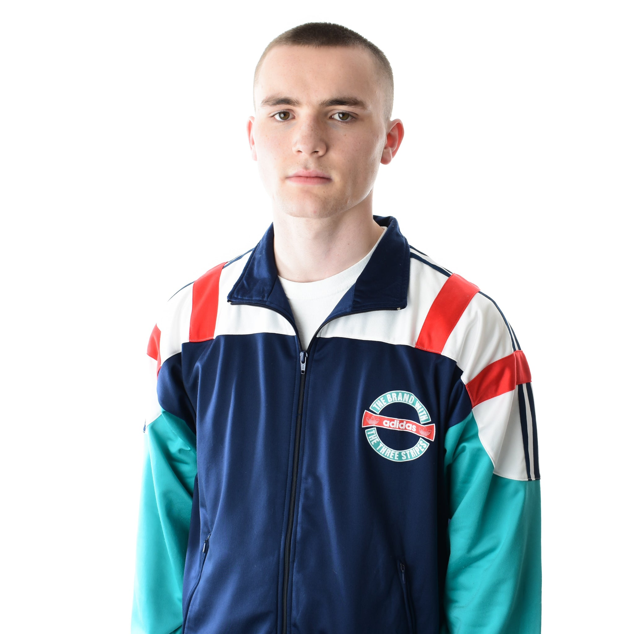 77b24f64 Load image into Gallery viewer, Retro 90s Adidas Track Jacket | Navy/White/  ...