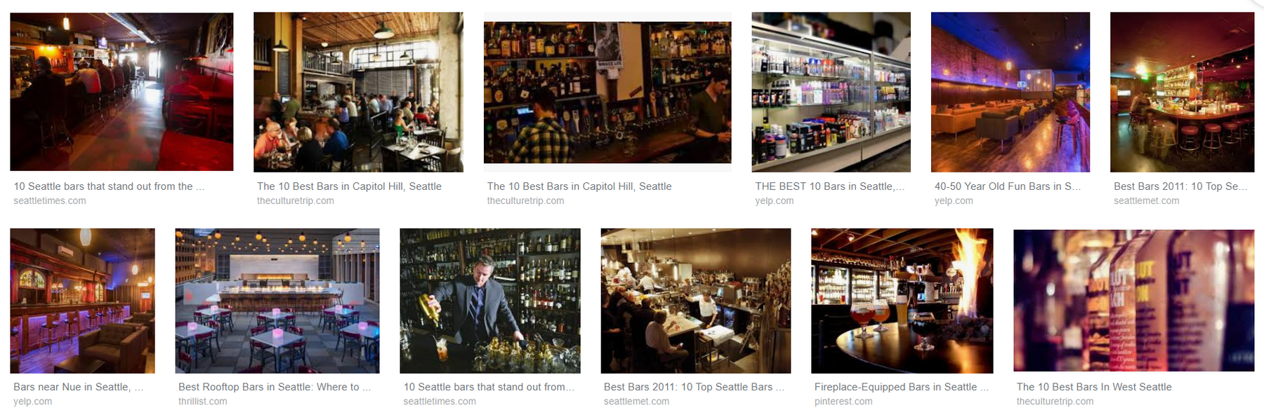 10 Places for bar hopping in Seattle, Washington