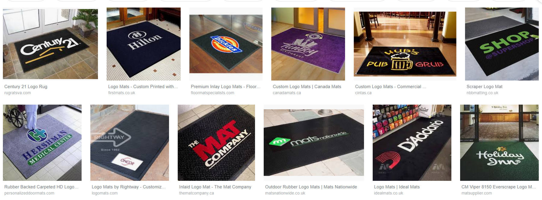 Why should commercial mats have a logo?