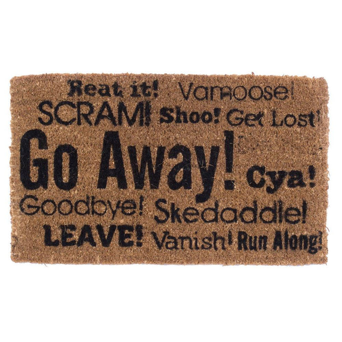 Go Away Synonyms Design Coco Doormats by Coco Mats N More