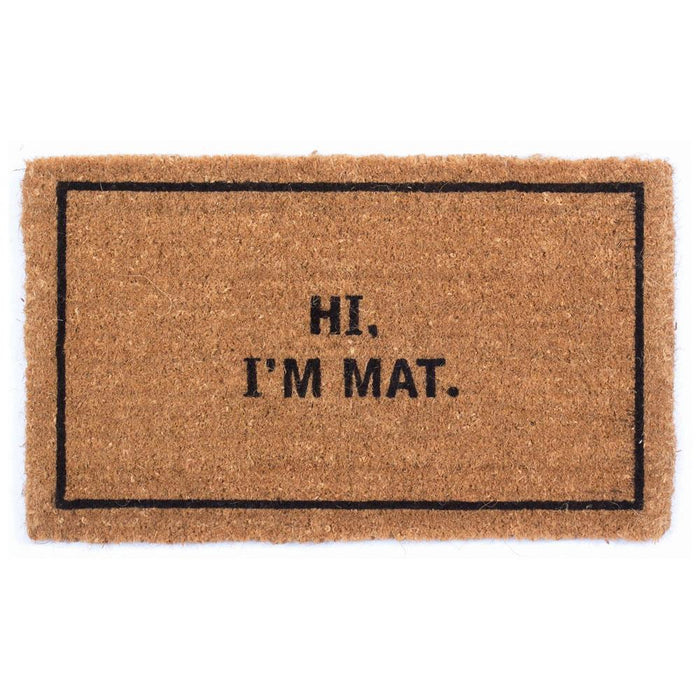 Hi I'm Mat Design Coco Doormats by Coco Mats N More