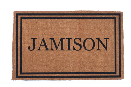 Hand Woven Double Bordered Personalized Coco Doormat