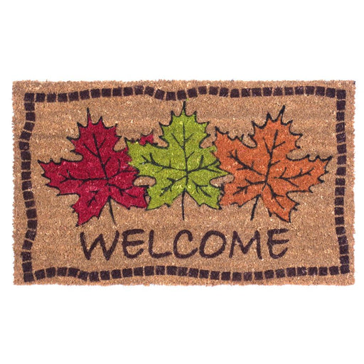 Autumn Maple Leaves Design Coco Doormats by Coco Mats N More