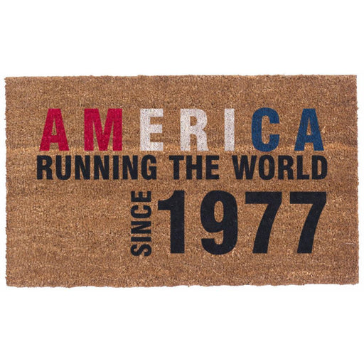 America -  Running The World Design Coco Doormats by Coco Mats N More