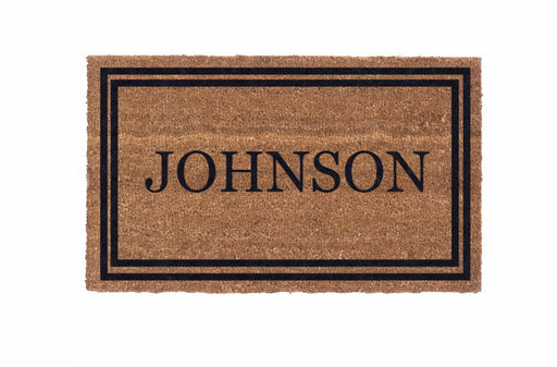 Low Profile Double Bordered Personalized Coco Doormat