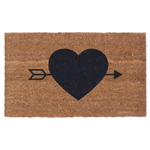 HEART N' ARROW Design Coco Doormats by Coco Mats N More