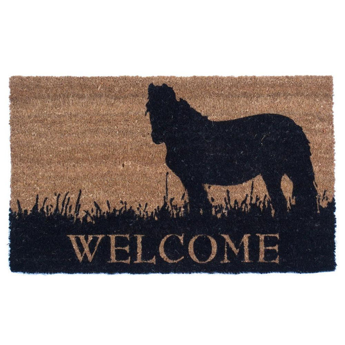 Pony Welcome Design Coco Doormats by Coco Mats N More