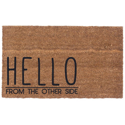 Heloo From the Other Side Design Coco Doormats by Coco Mats N More