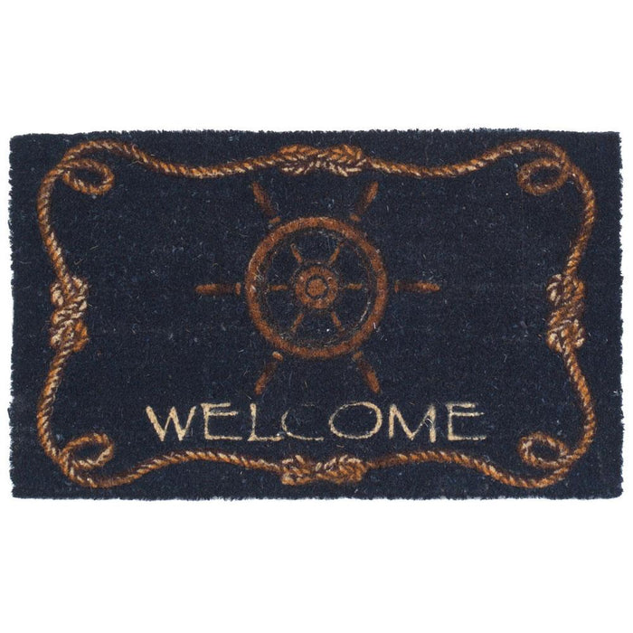 Ship's Wheel Design Coco Doormats by Coco Mats N More
