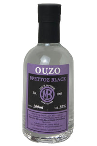 Ouzo Brettos Black Label, 200ml - 50% alcohol
