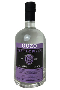 Ouzo Brettos Black Label, 500ml - 50% alcohol