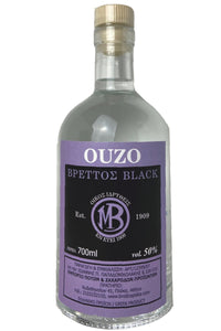 Ouzo Brettos Black Label, 700ml - 50% alcohol
