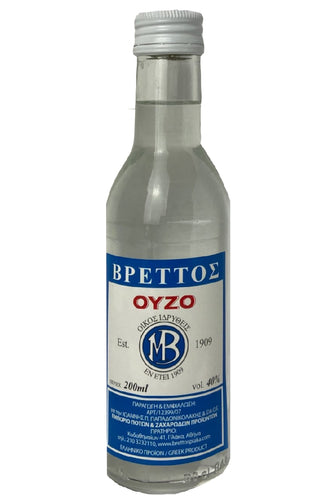 Ouzo Brettos Blue Label, 200ml