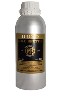 Ouzo Brettos Gold Label, metallic canister 1lt - 42% alcohol