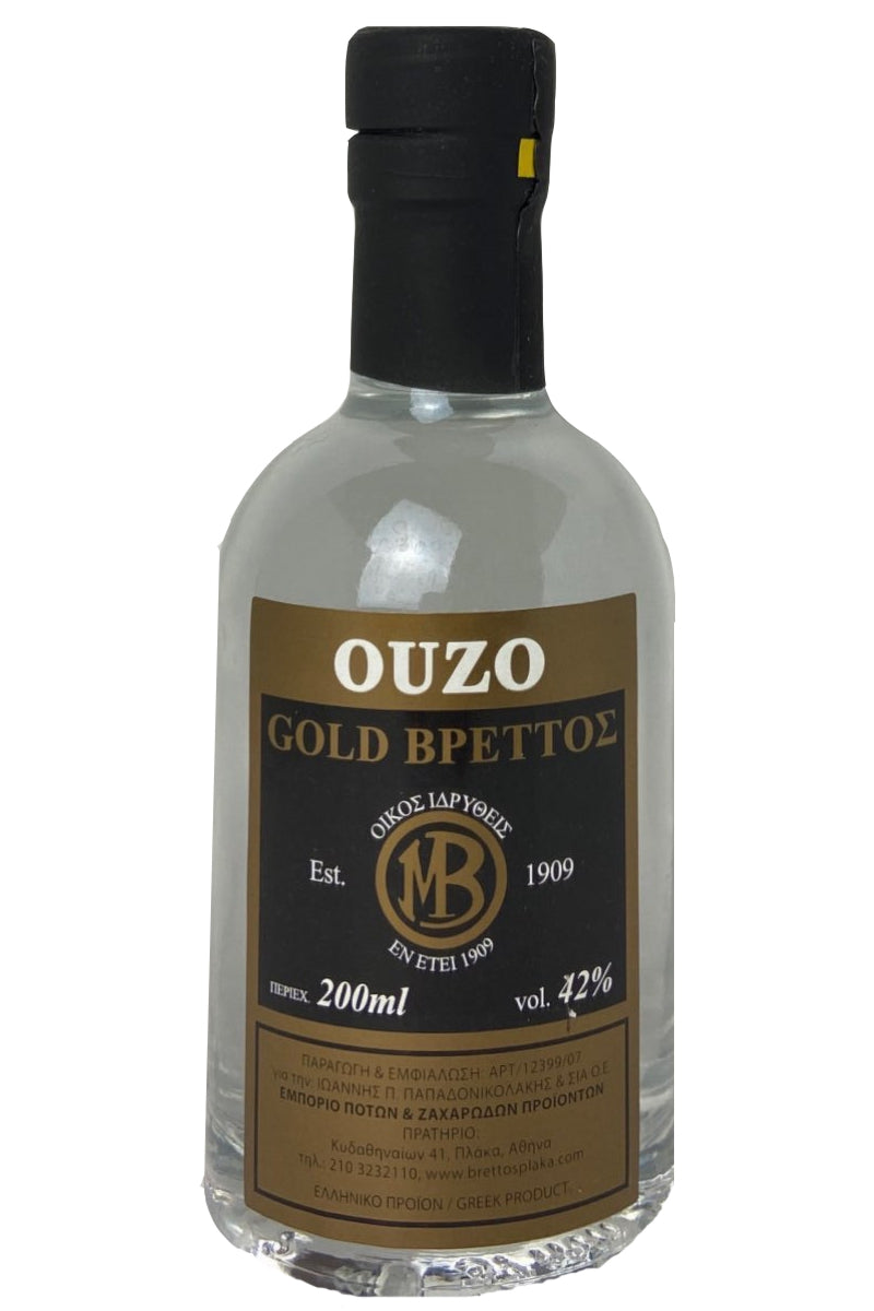 Ouzo Brettos Gold Label, 200ml - 42% alcohol