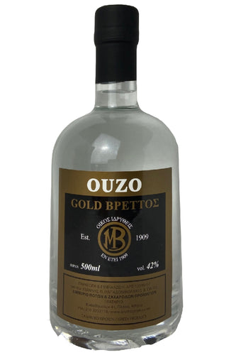 Ouzo Brettos Gold Label, 500ml - 42% alcohol