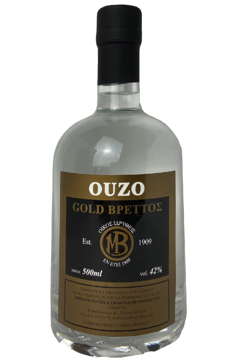 Ouzo Brettos Gold Label, 500ml