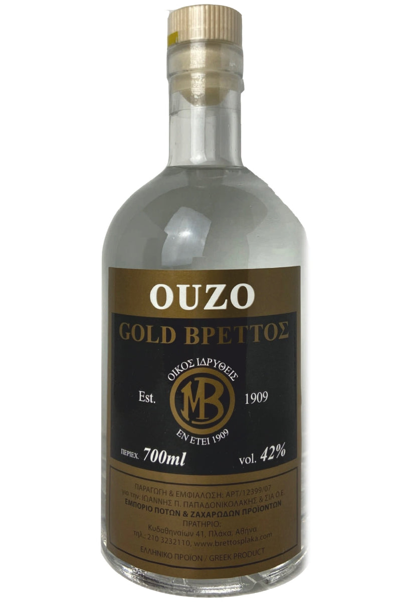 Ouzo Brettos Gold Label, 700ml - 42% alcohol