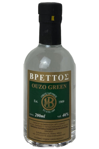 Ouzo Brettos Green Label, 200ml - 46% alcohol
