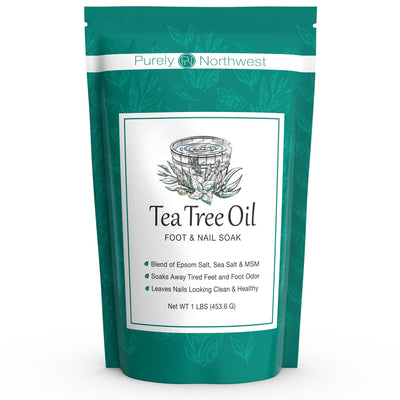 Tea Tree Oil Foot Soak with Epsom Salt & MSM