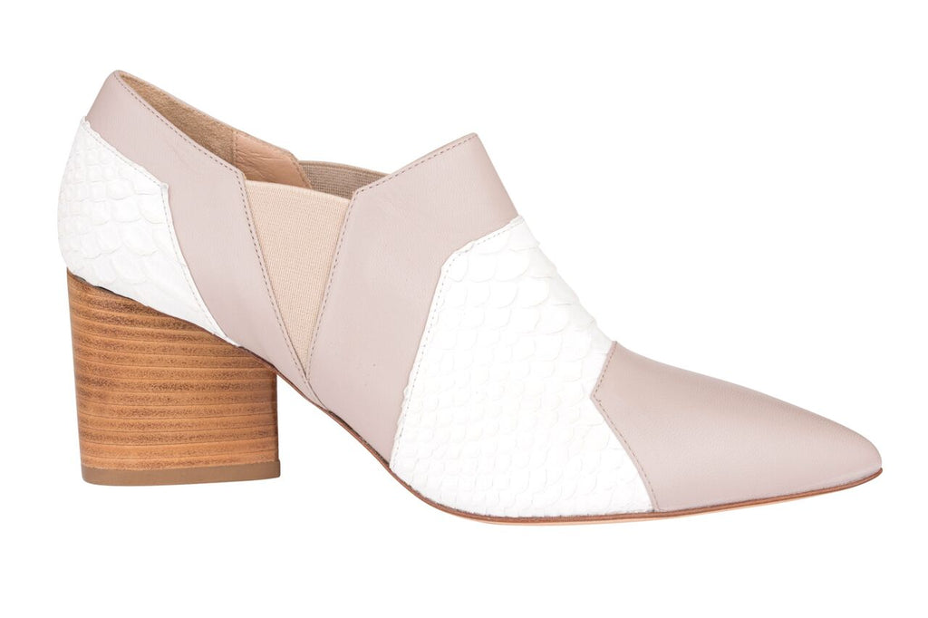 Miss Daring - Isabel Shoe (White & Nude) - OYSBY