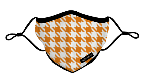 Adult Fall Gingham Face Mask