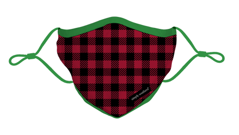 Youth Holiday Gingham Face Mask