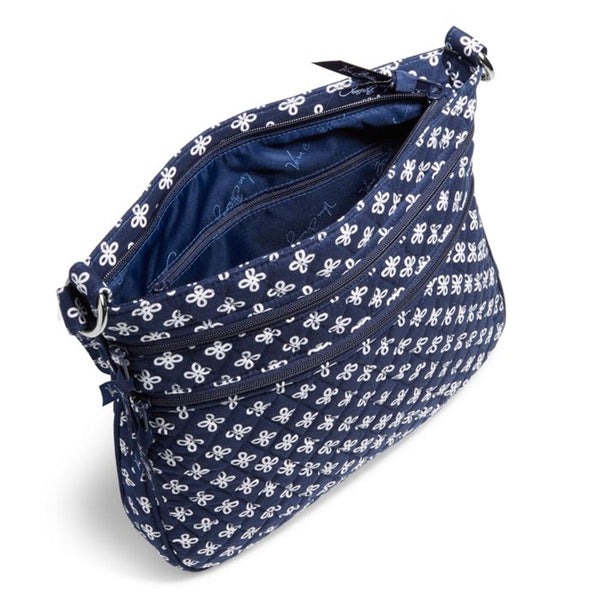 XAVIER TRIPLE ZIP HIPSTER CROSSBODY NAVY