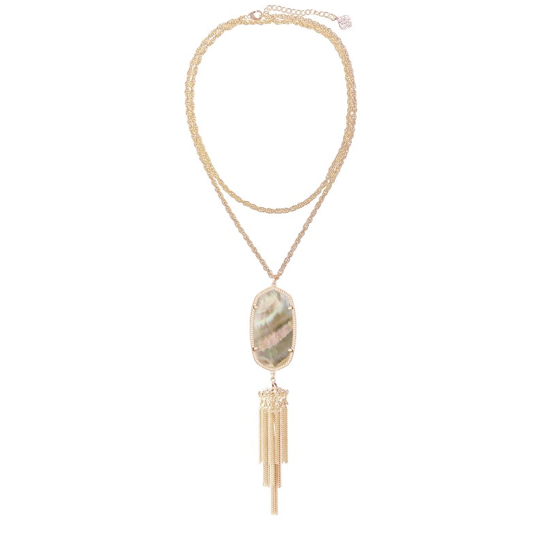 Rayne Rose Gold Brown Necklace