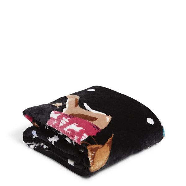 Plush Throw Blanket Merry Mischief Deer