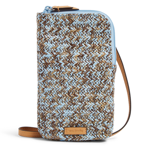 Straw Cellphone Crossbody Mint