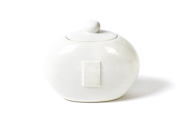 White Small Dot Big Cookie Jar (Pickup Only)