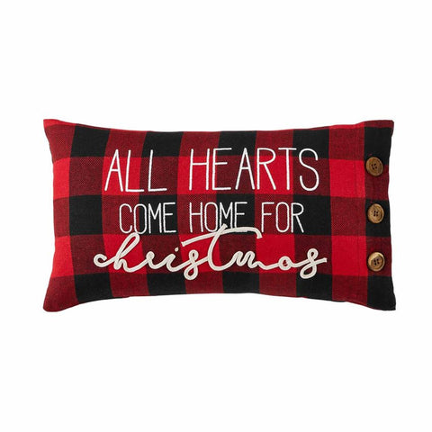 All Hearts Buffalo Check Pillow