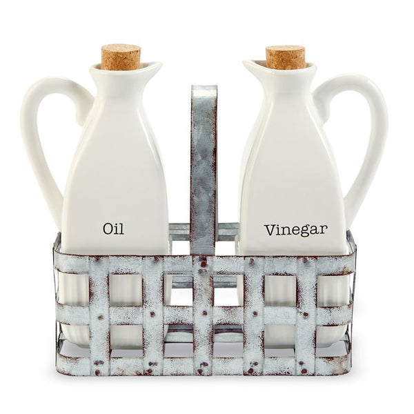 Oil & Vinegar Tin Basket