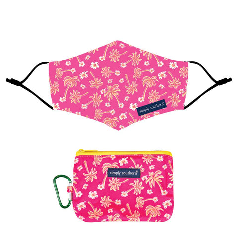 Mask Pouch Palm-Pink