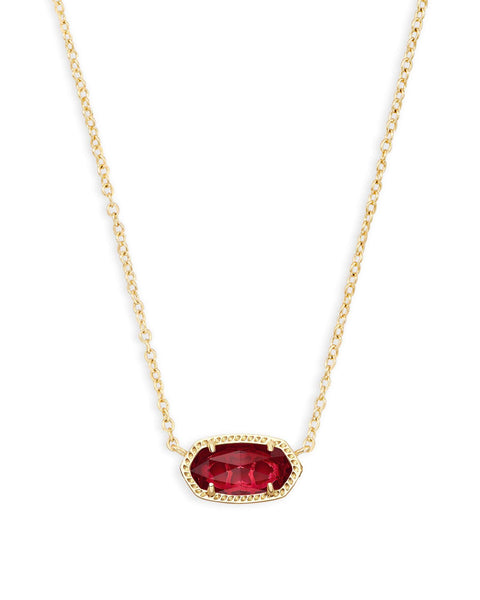 Elisa Gold Berry Clear Glass Necklace