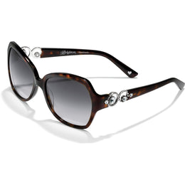 Crystal Brown Halo Sunglasses