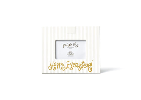 WHITE STRIPE MINI PICTURE FRAME HAPPY EVERYTHING