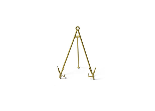 MEDIUM FLARE PLATE STAND GOLD