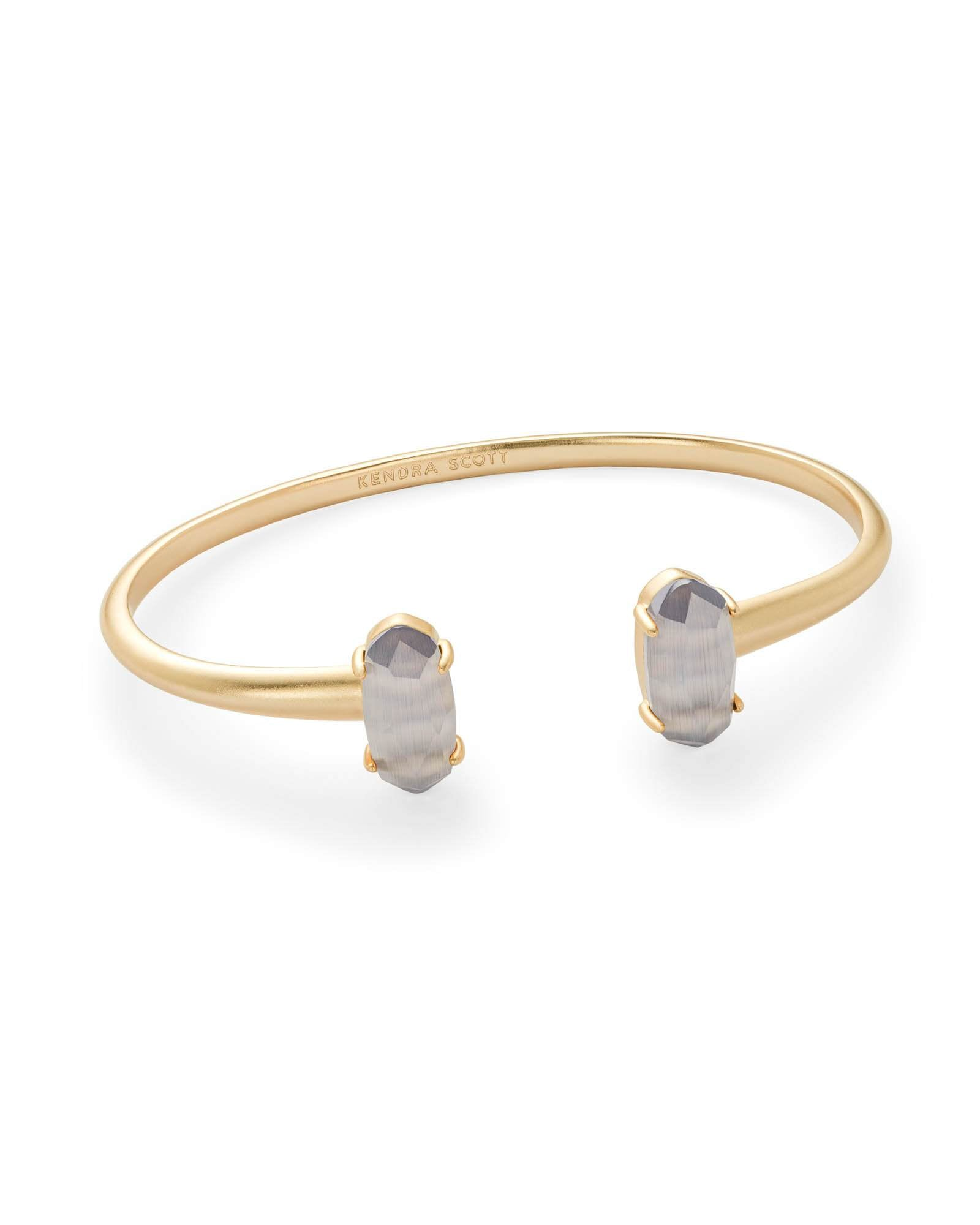 Edie Gold Slate Cat'S Eye Bracelet