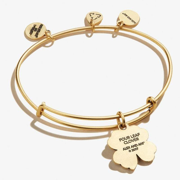 Alex And Ani Four Leaf Clover Gold Bangle