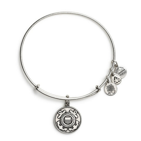 U.S. Coast Guard Charm Bangle Bracelet Rafaelian Silver