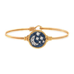 Starry Night Bangle Bracelet Brass Petite