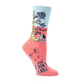 I Heard You And I Don't Care Crew Socks