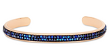 Druzy Channel Vcuff In Metallic Blue