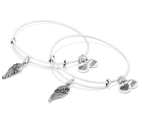 alex and ani silver bracelet set